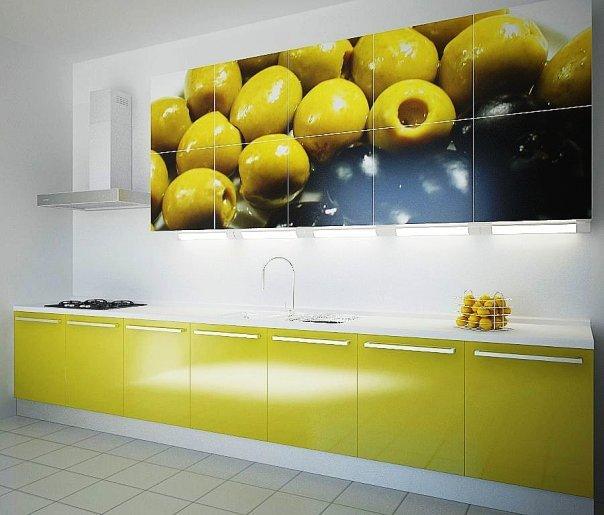 Фотопечать на кухонных фасадах фото